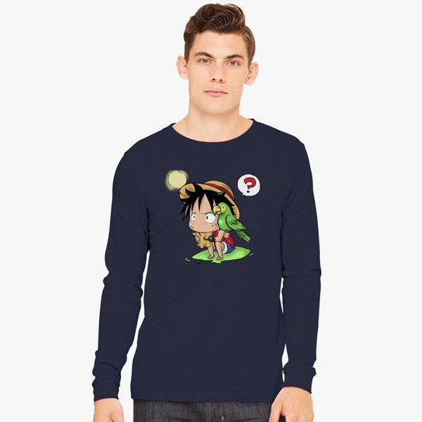 4a5dbac40cd8 Cute Luffy - One piece Long Sleeve T-shirt - Customon