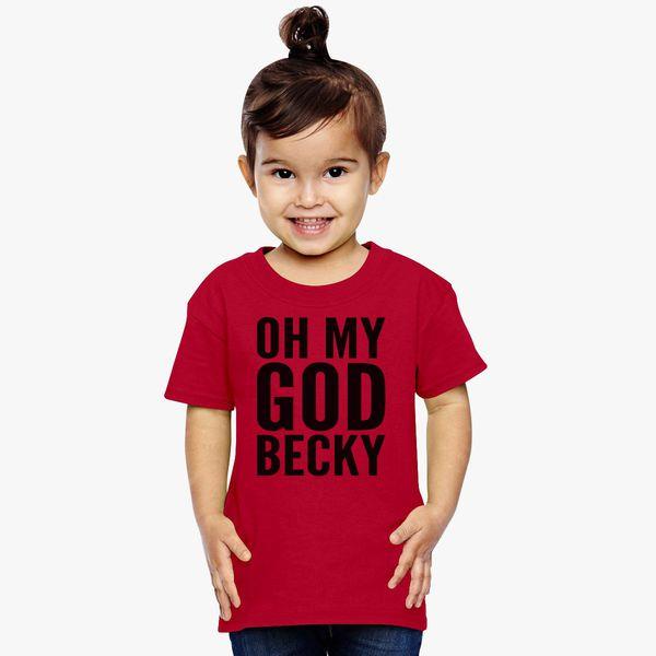 Oh My GOD Becky T-Shirt Short Sleeve Denim Hat Mens