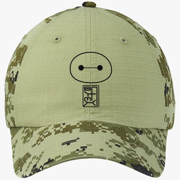 bd0b44dbb52 Big Hero Six Baymax face Colorblock Camouflage Cotton Twill Cap - Embroidery