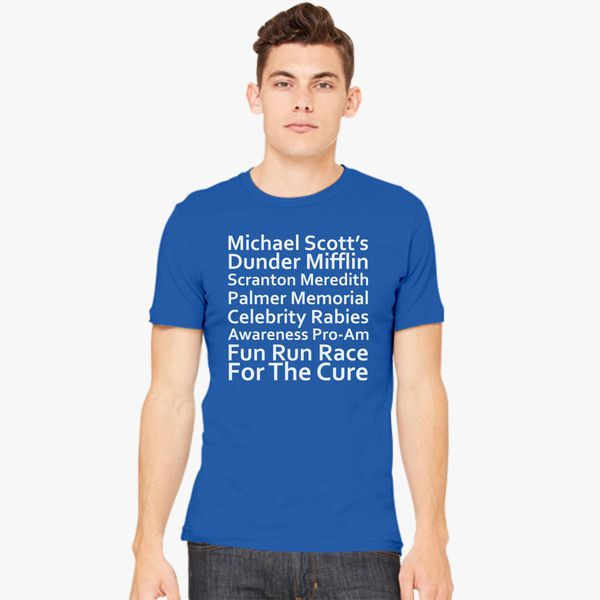a339d8df Michael Scott's Fun Run race for the cure Men's T-shirt - Customon