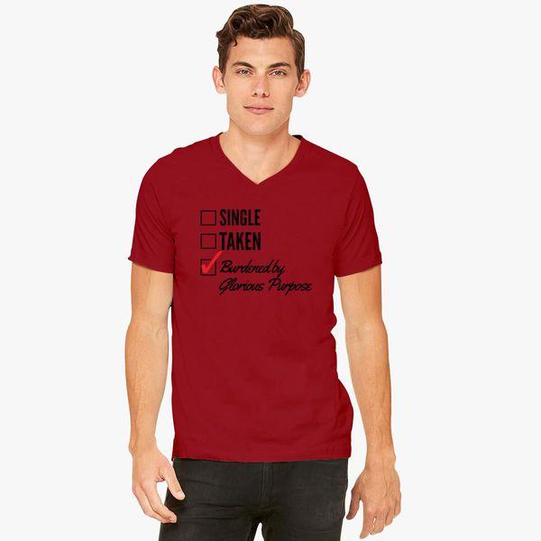 ce2e0872 Burdened by glorious Purpose V-Neck T-shirt - Customon