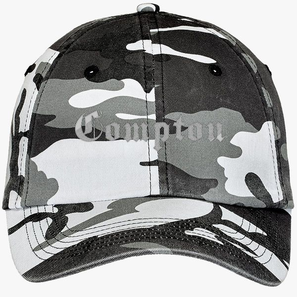 7b726db203e Compton Camouflage Cotton Twill Cap (Embroidered) - Customon