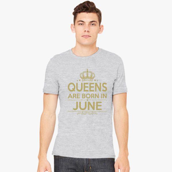 b9f90df23 Queens Are Born In June Gold Men's T-shirt - Customon