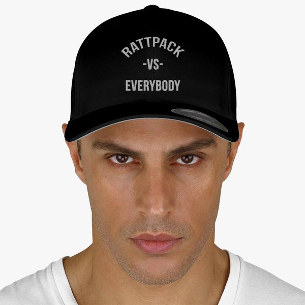 4811629ffbb73 RattPack VS Everybody White T-Shirt Baseball Cap (Embroidered ...