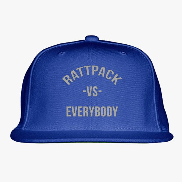 a4e531f13eaf1 RattPack VS Everybody White T-Shirt Snapback Hat (Embroidered) - Customon