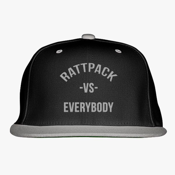 c0062c2fb71e3 RattPack VS Everybody White T-Shirt Snapback Hat (Embroidered ...