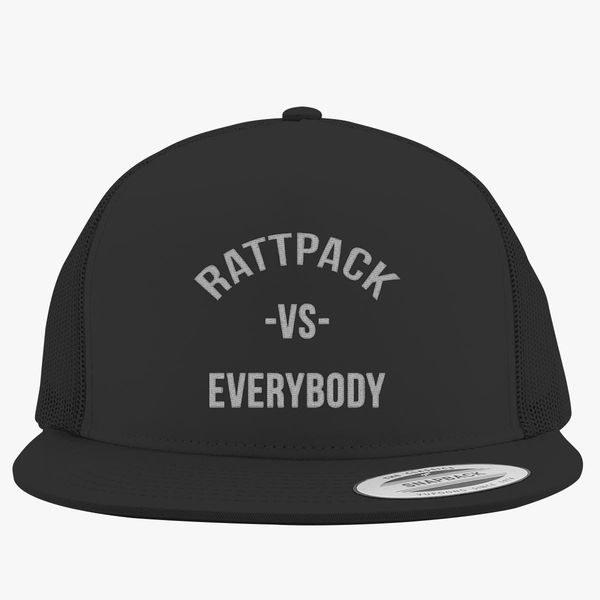 c55becfa3c414 RattPack VS Everybody White T-Shirt Trucker Hat (Embroidered ...