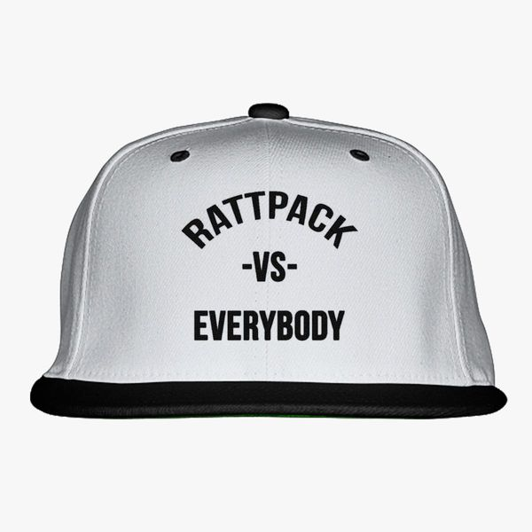 bf17de8d75721 RattPack VS Everybody Black T-Shirt Snapback Hat (Embroidered ...