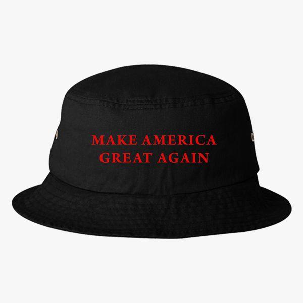 90fe4a1fa Make America Great Again Donald Trump Bucket Hat (Embroidered) - Customon