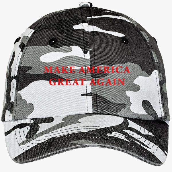 83faf50fe Make America Great Again Donald Trump Camouflage Cotton Twill Cap  (Embroidered) - Customon