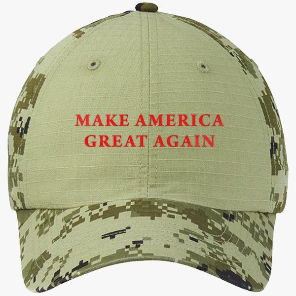 abd2ea622 Make America Great Again Donald Trump Colorblock Camouflage Cotton Twill  Cap (Embroidered) - Customon
