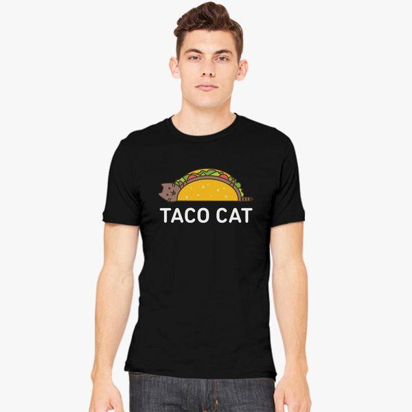 42bcb56196 Funny Taco Shirt Cinco De Mayo T Shirt Taco Cat T Shirt Mexican Food Joke  Gifts For Cat Lovers Men's T-shirt