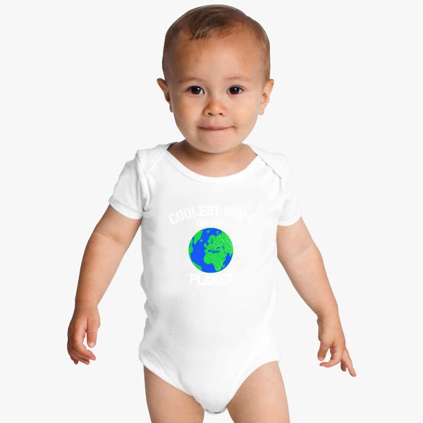 1b48b3c45 Mothers Day Gift Idea Mom Shirt T-shirt Tee Ladies Womens Coolest Mom on the  Planet Space Outer Space World Earth Cool Mommy Baby Onesies - Customon