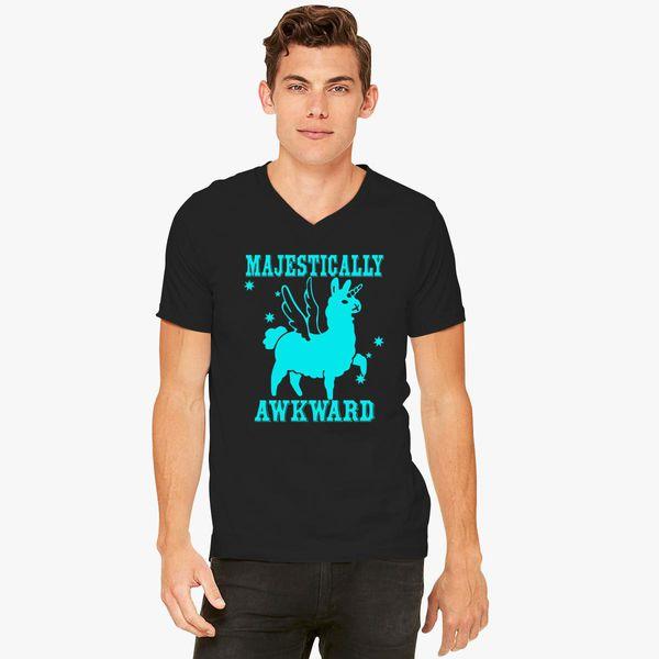 e53a5069d Majestically Awkward Llamicorn V-Neck T-shirt - Customon