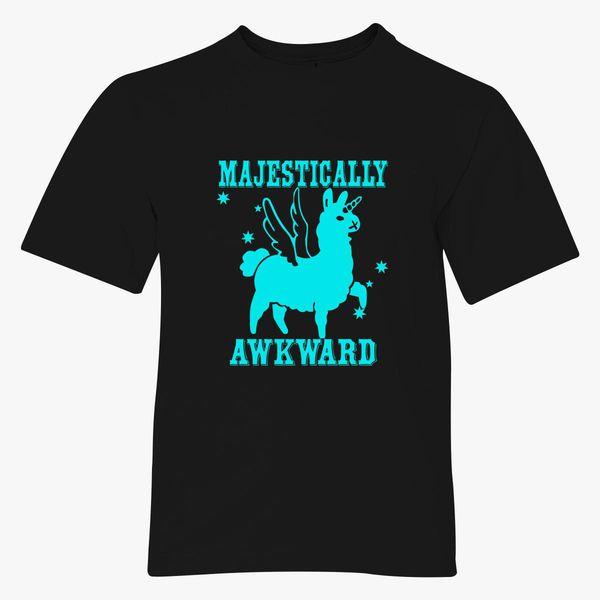 6fb5dcca2 Majestically Awkward Llamicorn Youth T-shirt - Customon