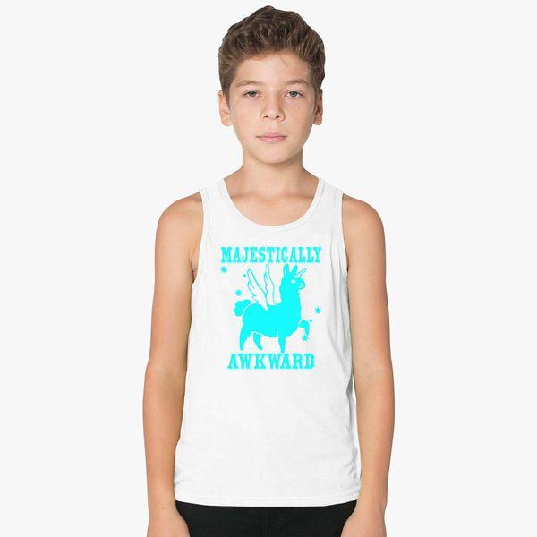 925987e8a Majestically Awkward Llamicorn Kids Tank Top - Customon