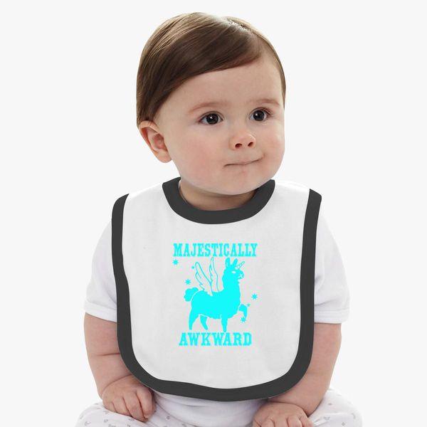 ad4cfb78f Majestically Awkward Llamicorn Baby Bib - Customon