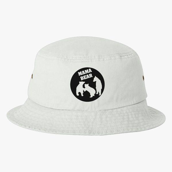 11da8ec8cdd Mama Bear 3 Cubs Bucket Hat (Embroidered) - Customon