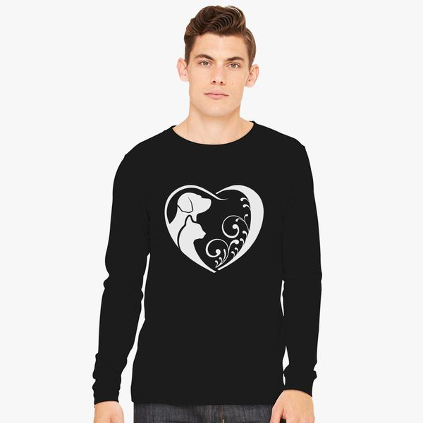 78744e0fad83 Cat and Dog Lover, Cat T Shirt, Veterinarian T Shirt, Pet Animal Rescue  TShirt, Dog T Shirt Long Sleeve T-shirt