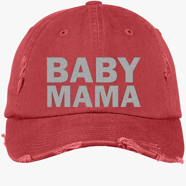 5a9f5a8045b Baby Mama Distressed Cotton Twill Cap (Embroidered) - Customon