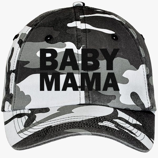 ff1a2ccdb60 Baby Mama Camouflage Cotton Twill Cap (Embroidered) - Customon