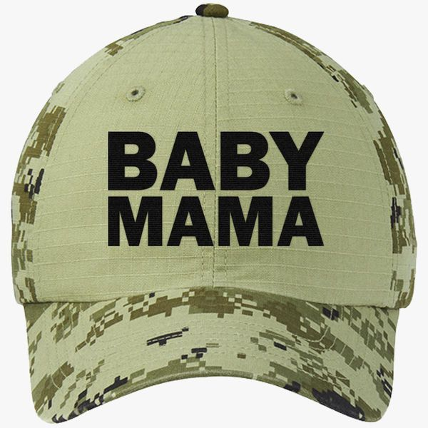 d3fa9ef83be Baby Mama Colorblock Camouflage Cotton Twill Cap (Embroidered) - Customon