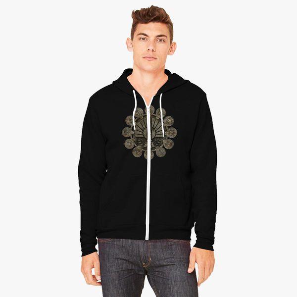 Design Mens The Hunger Games Mockingjay Moive with Hood Bag Zipper Hoodie Black