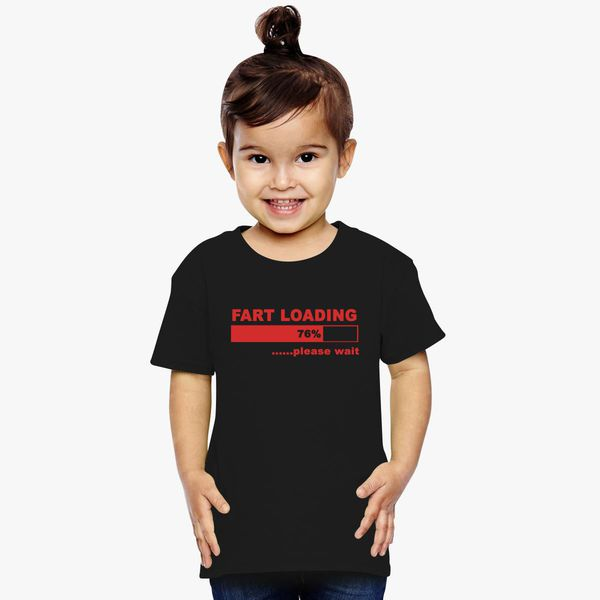fart loading very funny kids black  t shirts all sizes