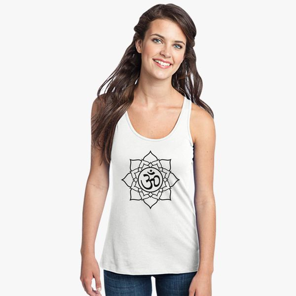 yoga tank yoga shirt yoga tank top lotus flower Womans racerback tank top lotus top lotus tank top Lotus tank lotus shirt