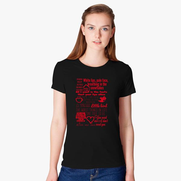 Ed Sheeran Lyrics Women's T-shirt - Customon