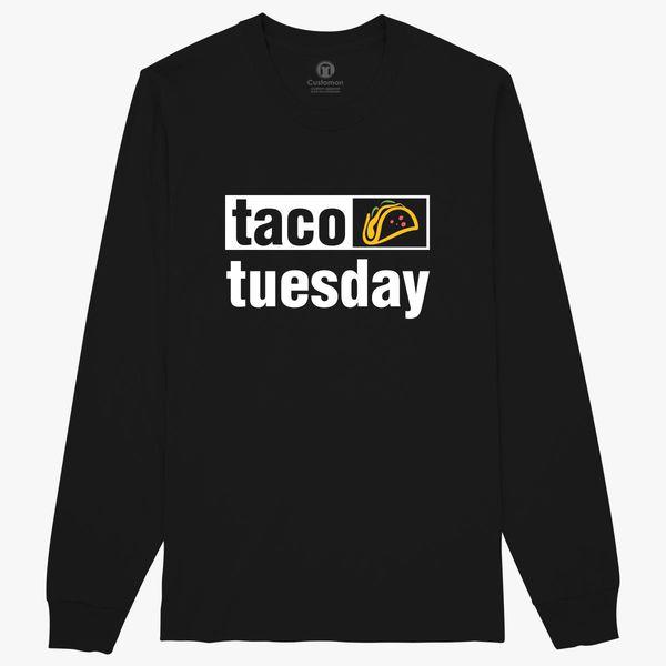 4e548af40d Taco Tuesday T shirt Funny Taco Mexican Food Long Sleeve T-shirt ...