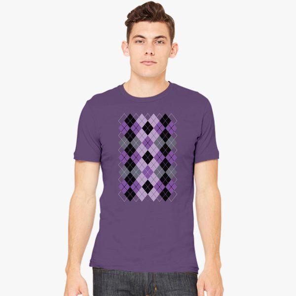 a190dd3631fb6e Argyle Design in Purple and Black Men s T-shirt - Customon