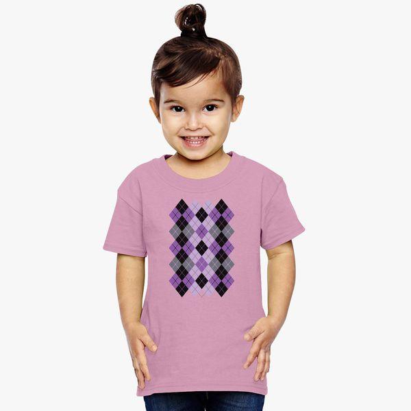 20a8235c7e52e3 Argyle Design in Purple and Black Toddler T-shirt - Customon