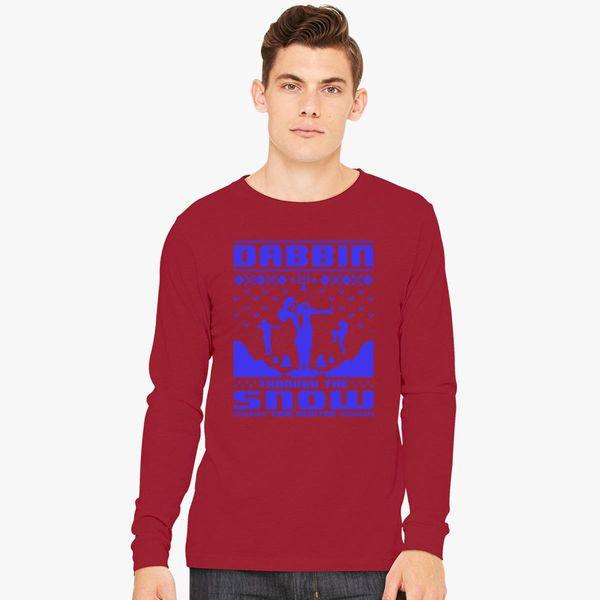watch b4ab3 01fb1 Dabbin' Through The Snow Cam Newton Long Sleeve T-shirt - Customon