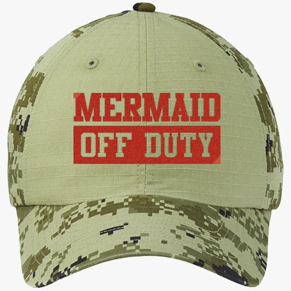 2e31a9dfa8eca Mermaid Off Duty Colorblock Camouflage Cotton Twill Cap - Embroidery