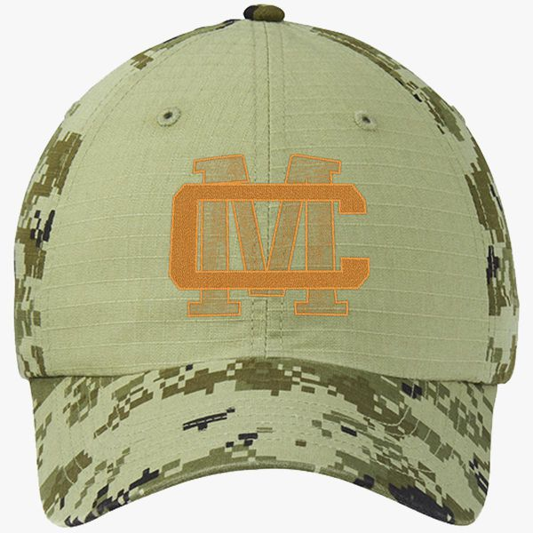 6bfc1a00de9725 CM LOGO - CONOR MCGREGOR Colorblock Camouflage Cotton Twill Cap - Embroidery