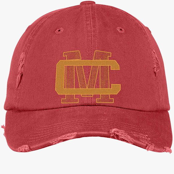 2fa05d6f28cdab CM LOGO - CONOR MCGREGOR Distressed Cotton Twill Cap - Embroidery