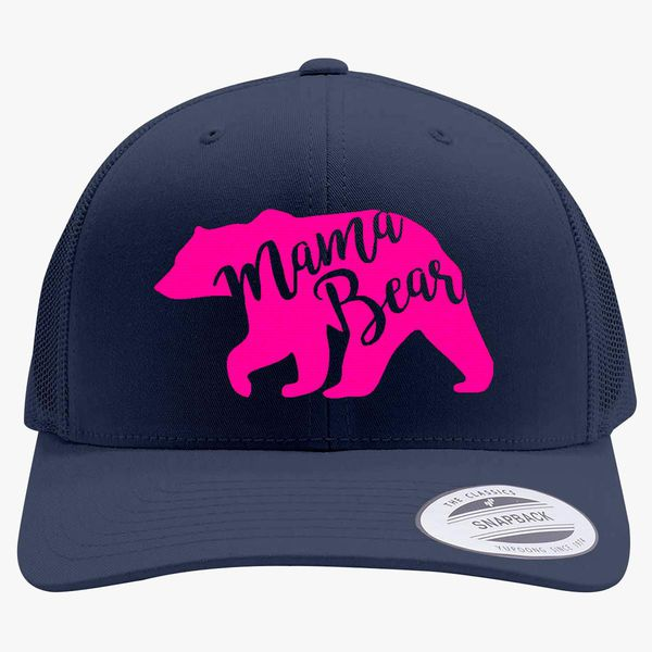Mama Bear Funny Navy Blue Baseball Cap Hat Adjustable Unisex Mom Mother Gift