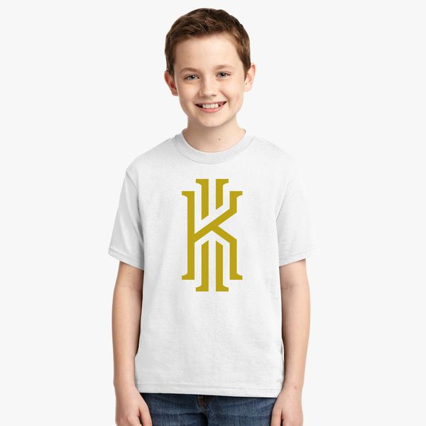 the latest 9d990 ecd5d Kyrie Irving logo gold Youth T-shirt - Customon
