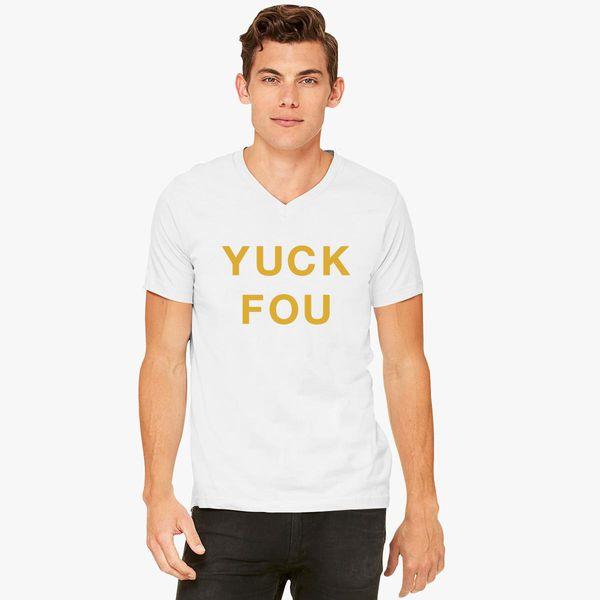 39e4d4b40a Yuck Fou Slogan - Gold V-Neck T-shirt - Customon