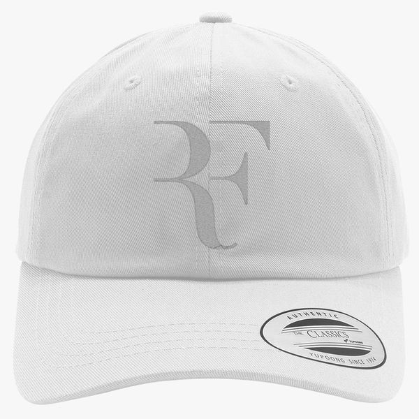 b68a90e2390fa Roger FEDERER white Cotton Twill Hat (Embroidered) - Customon