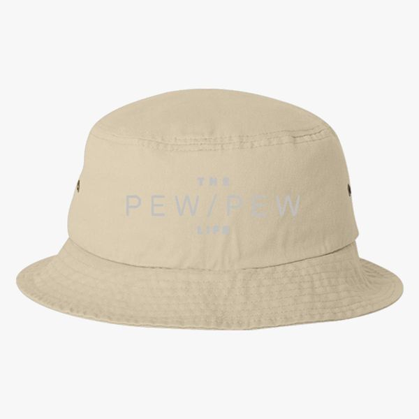 e69085f9b39a3 The pew pew Life - Silver Bucket Hat (Embroidered) - Customon