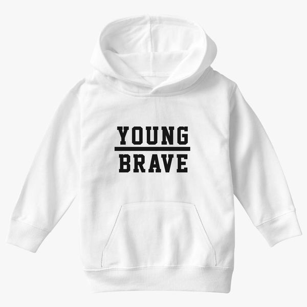 Bruh Kids Youth Couture Typography Black Hoodie
