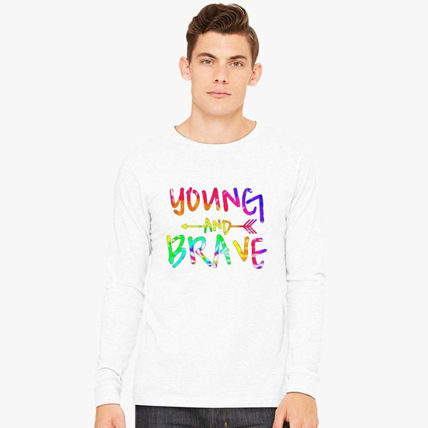 3450d9d8 YOUNG AND BRAVE - TIE DYE Long Sleeve T-shirt - Customon