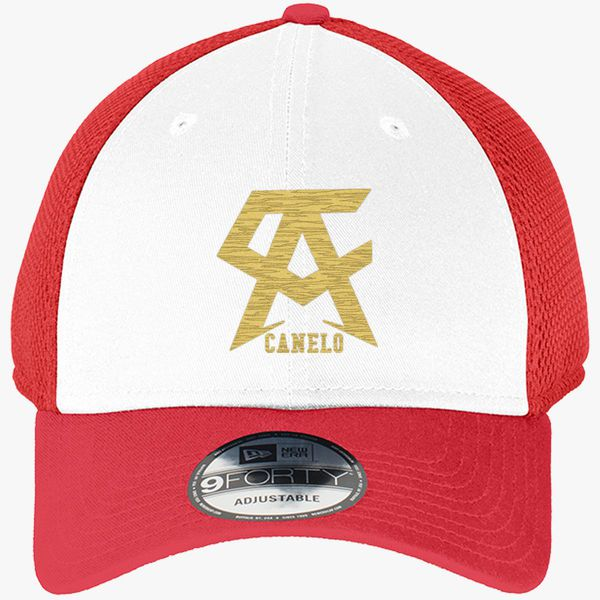 946d58461 CANELO ALVAREZ - CANELO - GOLD New Era Baseball Mesh Cap (Embroidered) -  Customon