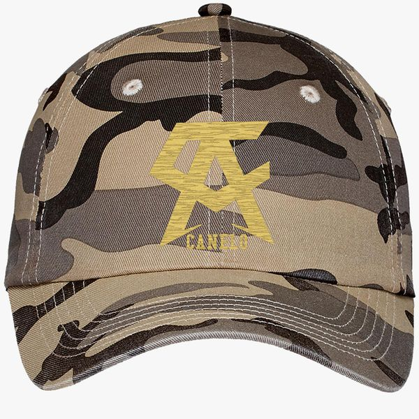 b5ecfad0e CANELO ALVAREZ - CANELO - GOLD Camouflage Cotton Twill Cap (Embroidered) -  Customon