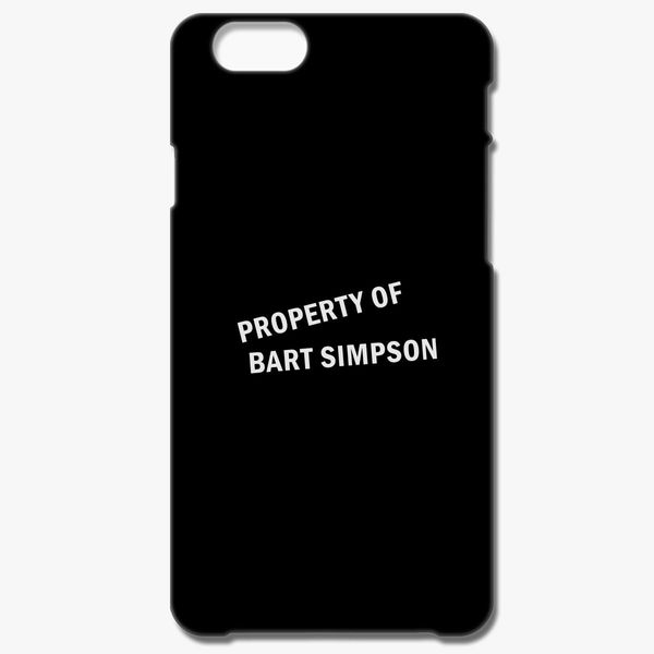 check out 1699f 20c46 Property of Bart Simpson iPhone 6/6S Plus Case - Customon