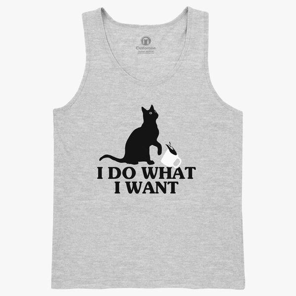 4e5f99effb97 I Do What I Want Funny Joke Cat Animal Kids Tank Top - Customon