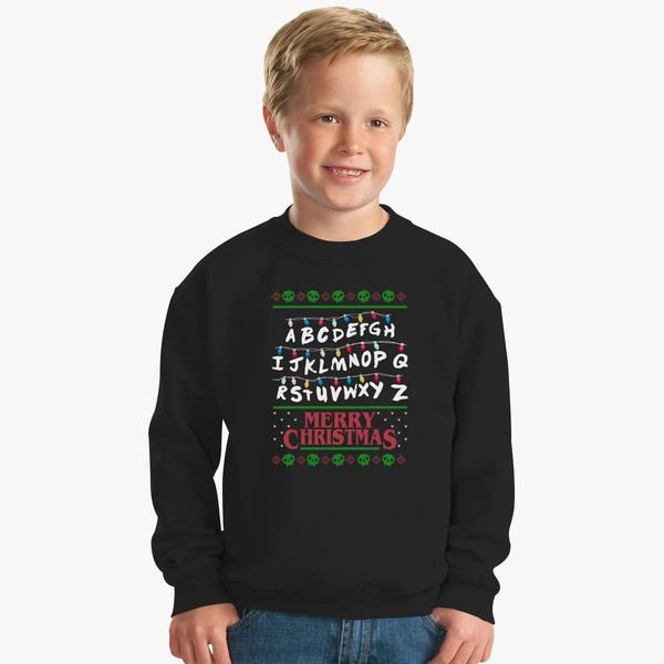 Stranger Things Christmas Sweater.Stranger Things Ugly Sweater Kids Sweatshirt Customon