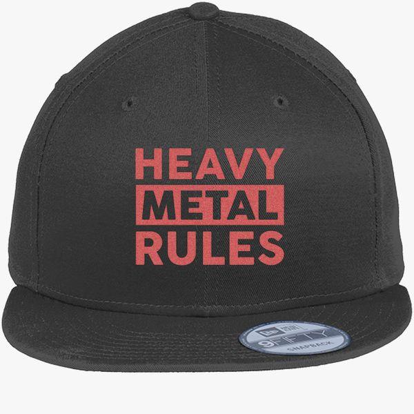 Heavy Metal Rules New Era Snapback Cap (Embroidered)  e7fbca61e04